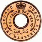 British West Africa / One-tenth Penny 1954 - reverse photo