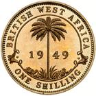 British West Africa / One Shilling 1949 / Proof (Royal Mint) - reverse photo