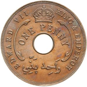 British West Africa / One Penny 1907 - obverse photo