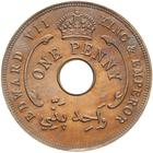 British West Africa / One Penny 1907 - reverse photo