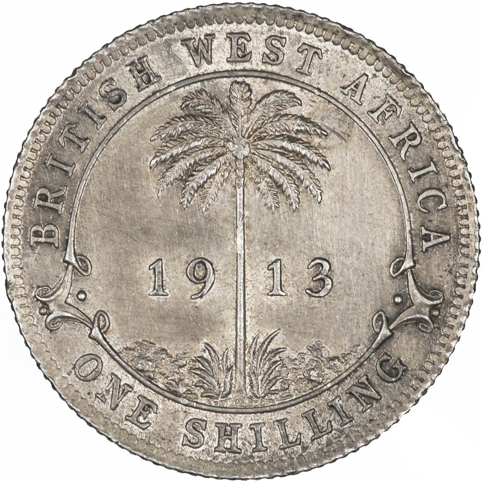 Shilling: Photo Coin - 1 Shilling, British West Africa, 1913
