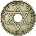 British West Africa / One Penny 1919 - obverse photo