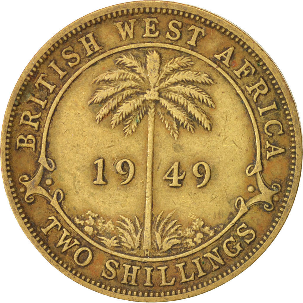 Two Shillings 1949: Photo Coin, British West Africa, George VI, 2 Shillings, 1949