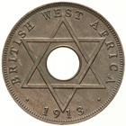 Halfpenny 1913: Photo Coin - 1/2 Penny, British West Africa, 1913