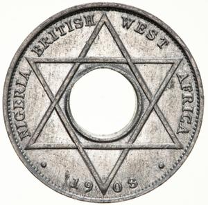 British West Africa / One-tenth Penny (Aluminium, Edward VII) - reverse photo
