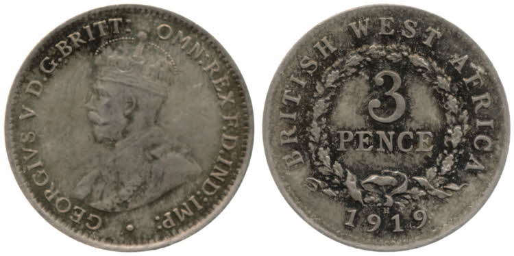 Threepence 1919: Photo 3 Pence