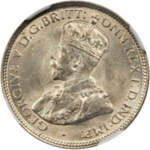 British West Africa / Sixpence 1920 (Silver) - obverse photo