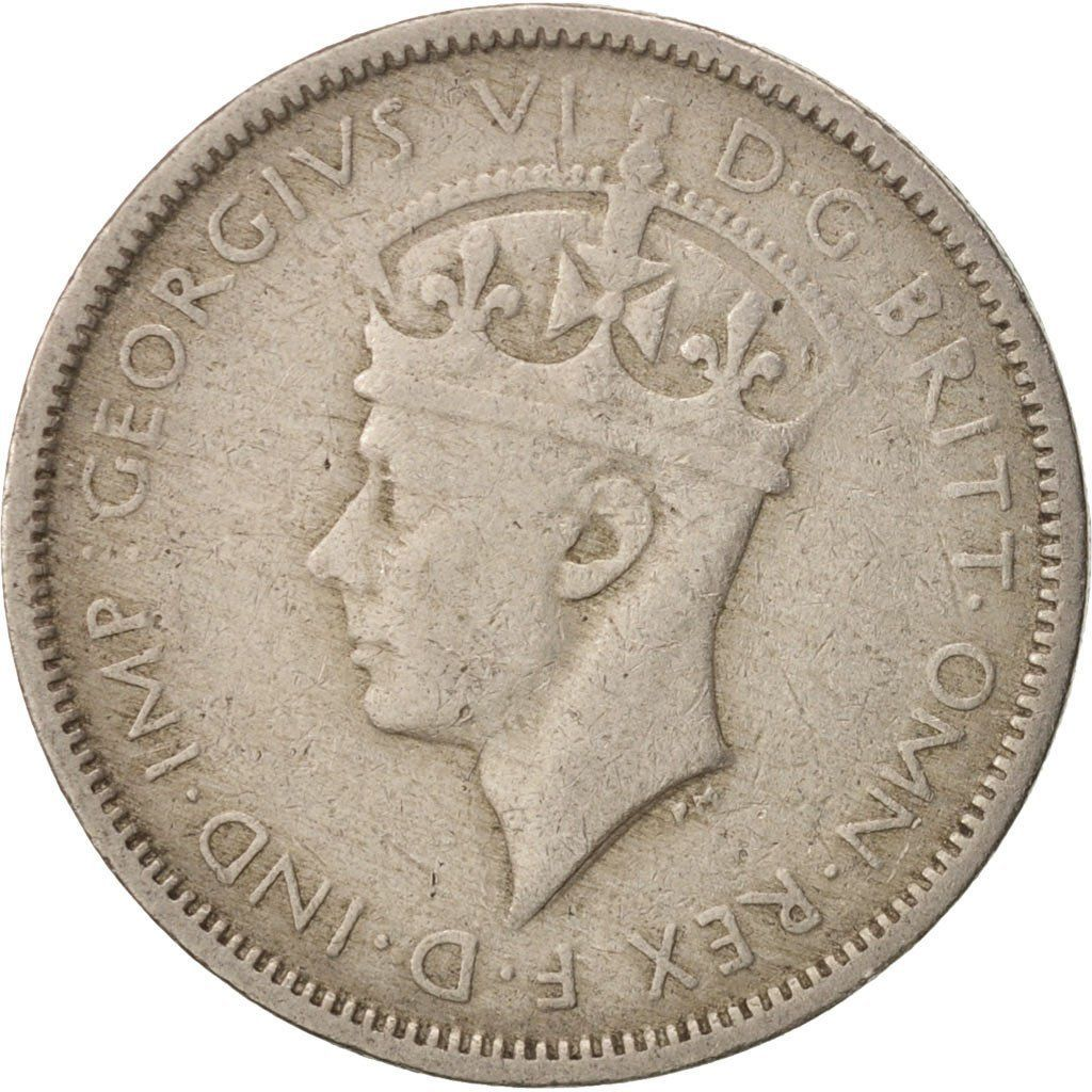 Threepence 1941: Photo Coin, British West Africa, George VI, 3 Pence, 1941