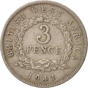 British West Africa / Threepence 1941 - reverse photo