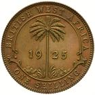 Shilling 1925: Photo Proof Coin - 1 Shilling, British West Africa, 1925