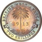 Two Shillings 1913: Photo British West Africa 1913-H 2 shillings