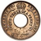 One-tenth Penny 1936 Edward VIII: Photo Coin - 1/10 Penny, British West Africa, 1936