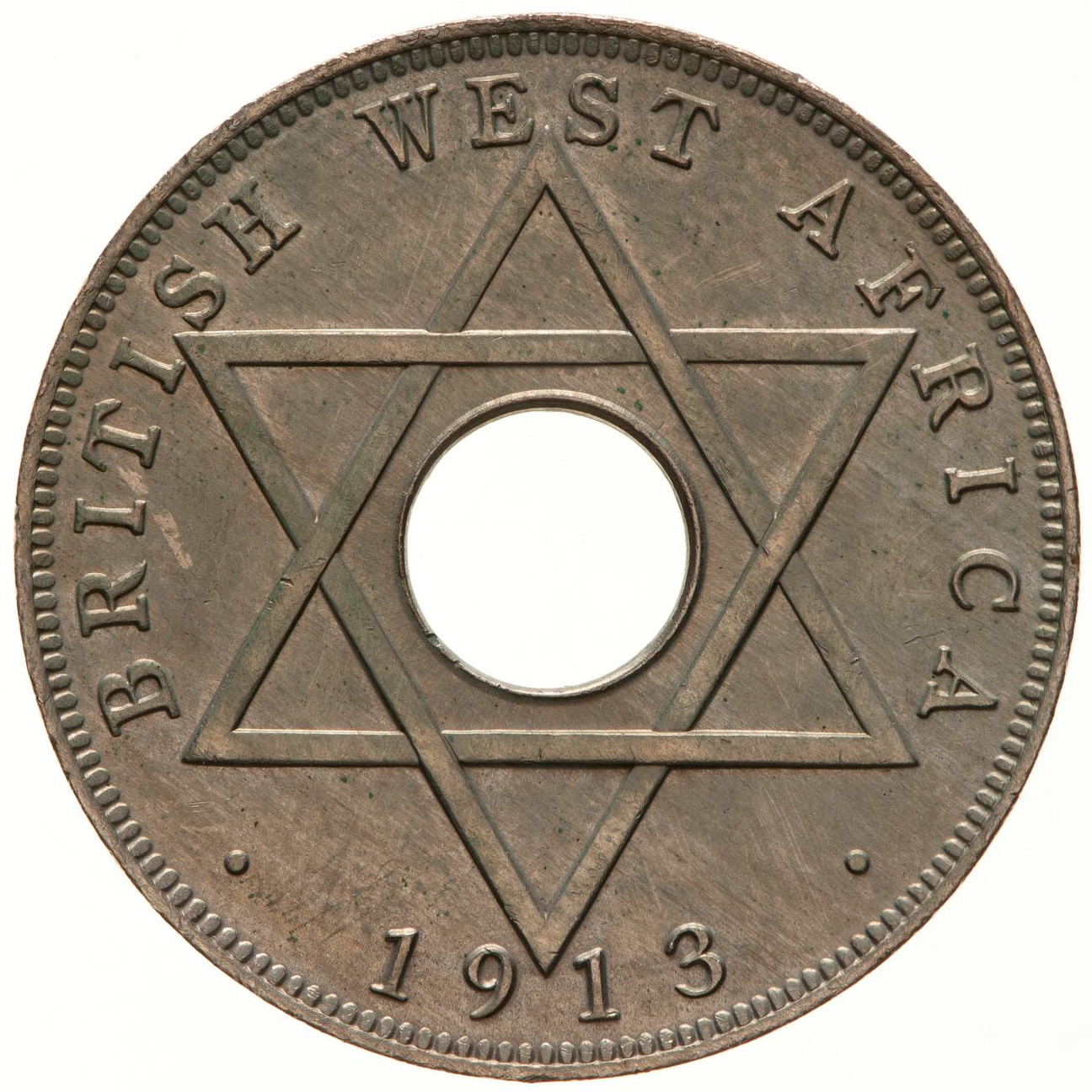 Halfpenny (George V and Edward VIII): Photo Coin - 1/2 Penny, British West Africa, 1913