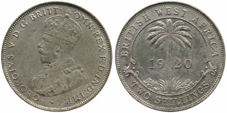 Two Shillings 1920 (Debased Silver): Photo Two Shillings