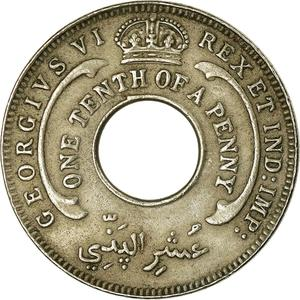 British West Africa / One-tenth Penny 1942 - obverse photo
