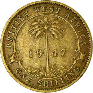 British West Africa / One Shilling 1947 - reverse photo
