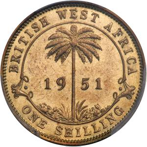 British West Africa / One Shilling 1951 - reverse photo