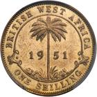 Shilling 1951: Photo British West Africa 1951-KN 1 shilling