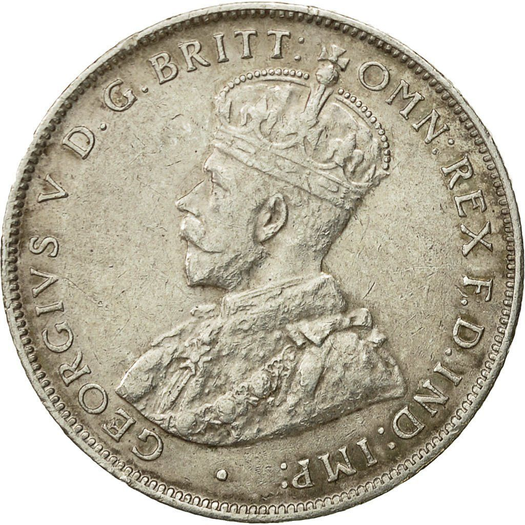 Two Shillings 1916: Photo Coin, British West Africa, George V, 2 Shillings, 1916