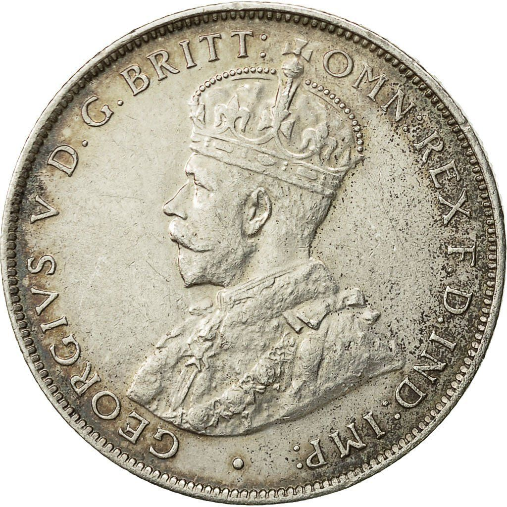Two Shillings 1918: Photo Coin, British West Africa, George V, 2 Shillings, 1918