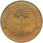 British West Africa / Two Shillings 1925 - reverse photo