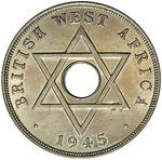 British West Africa / One Penny 1945 / Edward VIII mule (Royal Mint) - reverse photo
