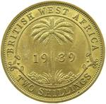 British West Africa / Two Shillings 1939 - reverse photo
