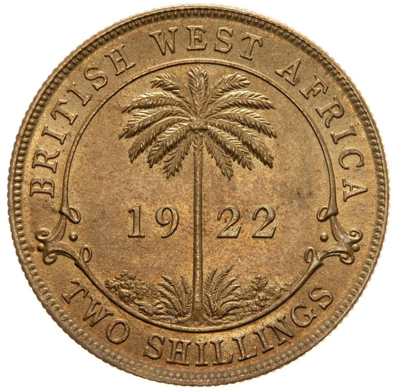 Two Shillings 1922: Photo Coin - 2 Shillings, British West Africa, 1922