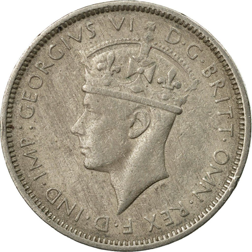 Threepence 1938: Photo Coin, British West Africa, George VI, 3 Pence, 1938
