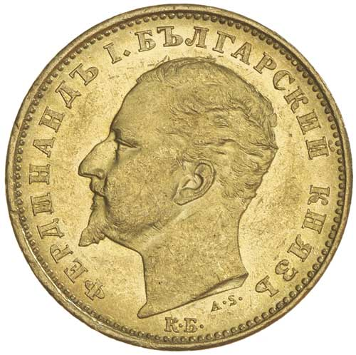 Twenty Leva (Gold): Photo BULGARIA, Ferdinand I, twenty leva, 1894 (KM.20)