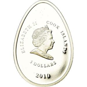 Cook Islands / Five Dollars 2010 Green Egg - reverse photo