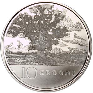 Estonia / Ten Krooni 2008 Anniversary of Republic - reverse photo