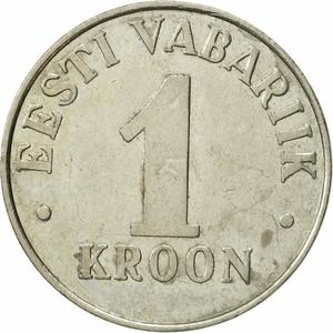 Estonia / One Kroon 1995 - reverse photo