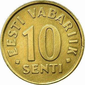 Estonia / Ten Senti 1998 - reverse photo