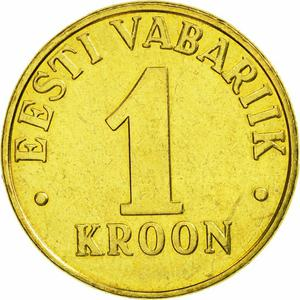 Estonia / One Kroon 2001 - reverse photo
