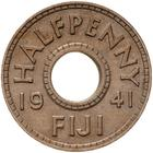 Fiji / Halfpenny 1941 - reverse photo