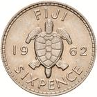Sixpence 1962: Photo Coin - 6 Pence, Fiji, 1962
