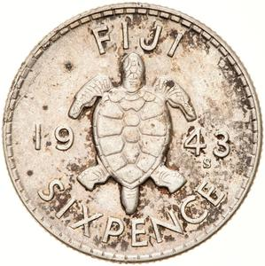 Fiji / Sixpence 1943 - reverse photo