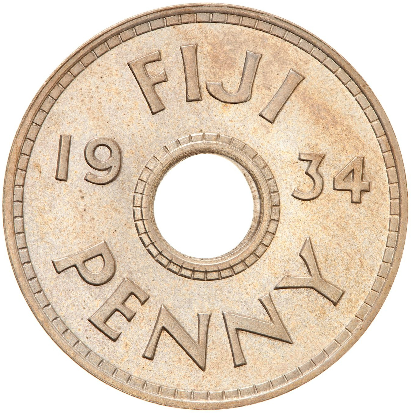 Penny: Photo Proof Coin - 1 Penny, Fiji, 1934