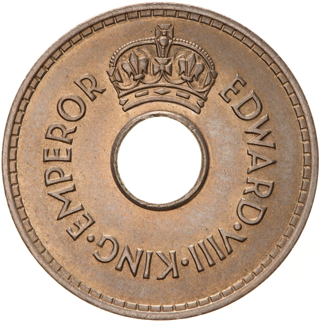 Penny 1936 (King Edward VIII): Photo Coin - 1 Penny, Fiji, 1936