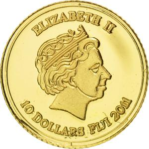 Fiji / Ten Dollars 2011 Gold Namibia - obverse photo
