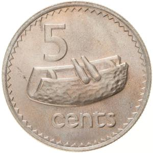 Fiji / Five Cents 1979 - reverse photo