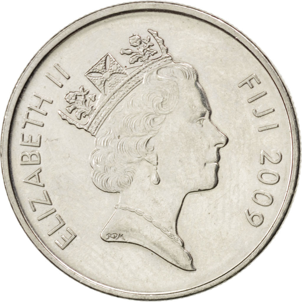 Ten Cents 2009: Photo Fiji, Elizabeth II, 10 Cents, 2009