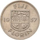 Fiji / Florin 1957 - reverse photo