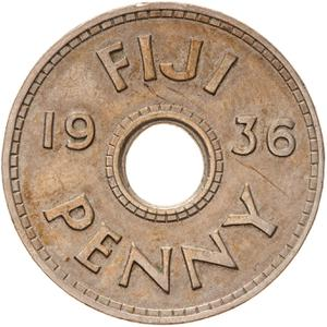 Fiji / Penny 1936 (King George V) - reverse photo