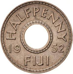 Fiji / Halfpenny 1952 - reverse photo