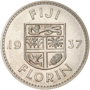 Fiji / Florin 1937 - reverse photo