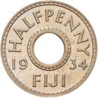 Halfpenny 1934: Photo Proof Coin - 1/2 Penny, Fiji, 1934