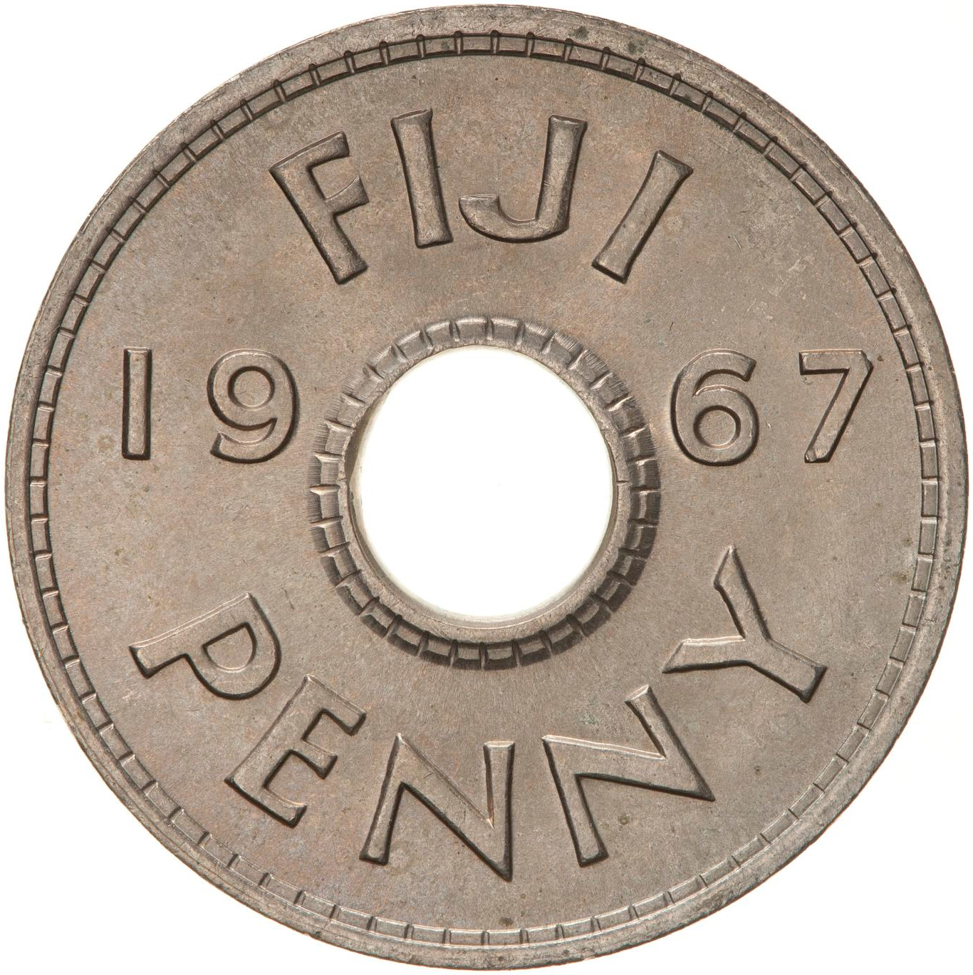 Penny 1967: Photo Coin - 1 Penny, Fiji, 1967