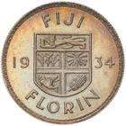 Fiji / Florin 1934 - reverse photo
